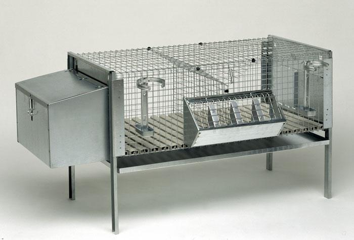 Klatka dla królików dwustanowiskowa mieszana - zdjecie 1