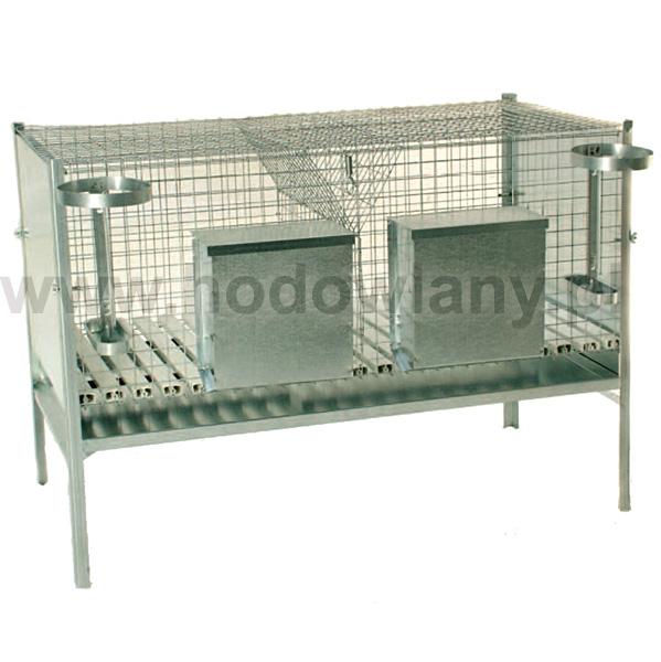Klatka dla królików dwustanowiskowa z wyposażeniem - zdjecie 1