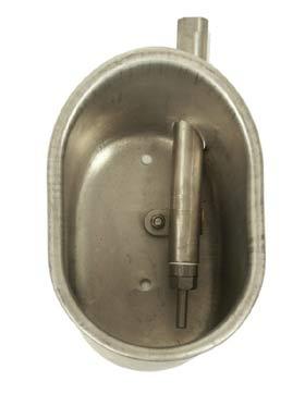 Poidło miskowe dla warchlaków ze stali nierdzewnej