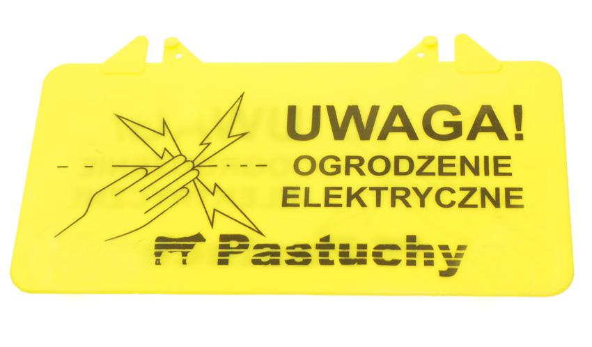 Tabliczka - uwaga ogrodzenie elektryczne - zdjecie 1