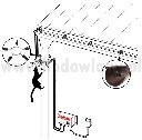 Pastuch elektryczny przeciw kunom do montażu na budynku STANDARD na rynnach dachowych - zdjecie 3