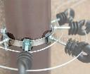 Nasadka mocująca izolator z gwintem metrycznym do rynny lub opaski - zdjecie 5