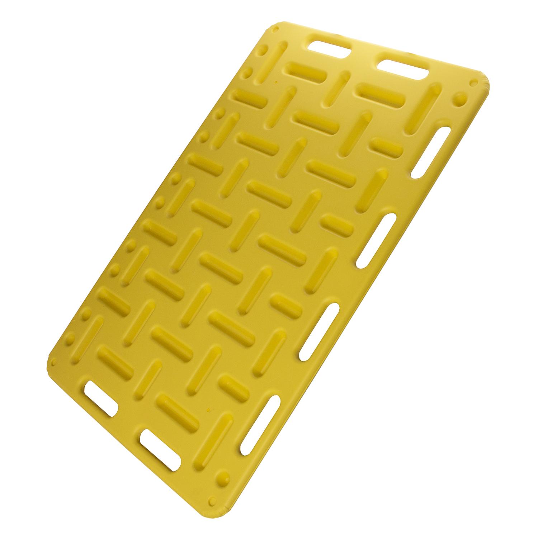Płyta do przepędzania trzody, panel sortujący 121,5 x 78 cm żółty - zdjecie 1