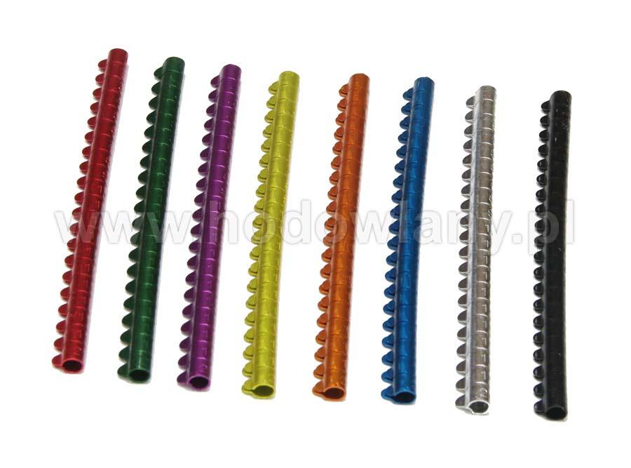 Obrączki aluminiowe o średnicy 4mm dla małych ptaków numerowane 20szt - zdjecie 1