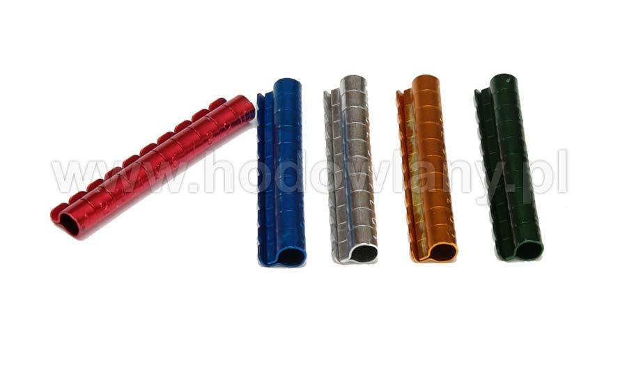 Obrączki aluminiowe 6mm kolorowe dla ptaków numerowane 10szt - zdjecie 1