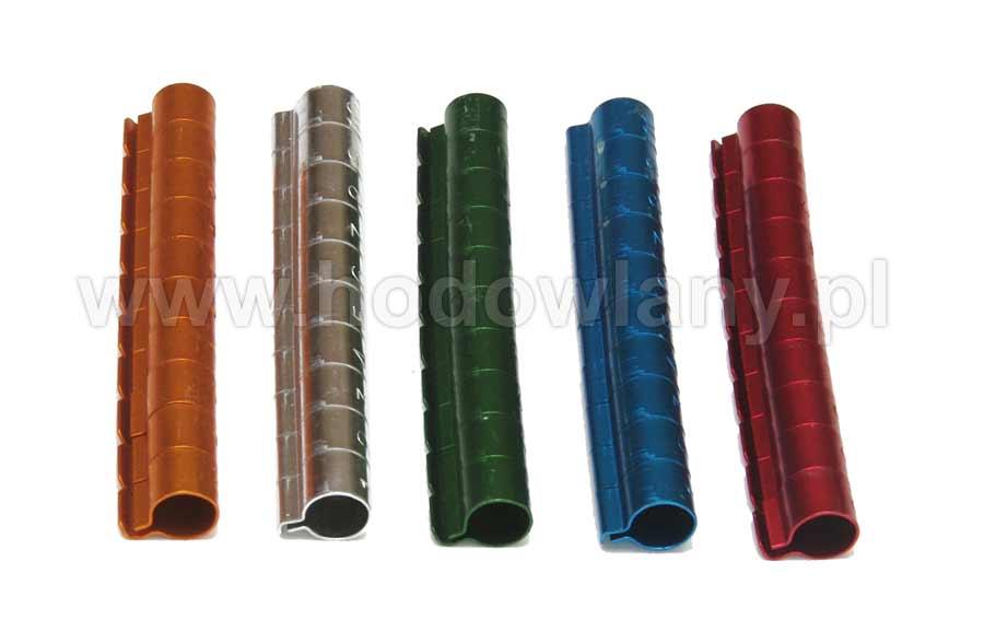 Obrączki aluminiowe 8mm kolorowe dla ptaków numerowane 10szt - zdjecie 1