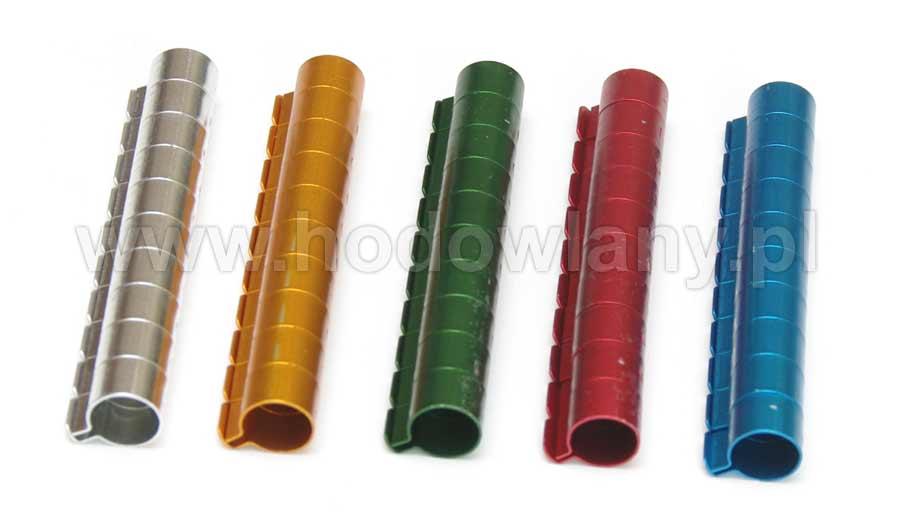 Obrączki aluminiowe 10mm kolorowe dla większych ptaków numerowane 10szt - zdjecie 1