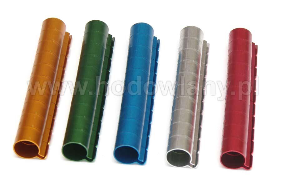 Obrączki aluminiowe 12mm kolorowe dla dużych ptaków numerowane 10szt - zdjecie 1