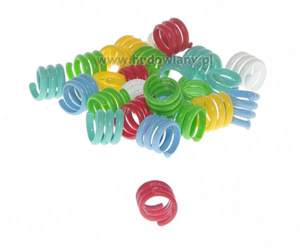 Spiralne obrączki dla małego drobiu - 9 mm 25 szt. - zdjecie 1