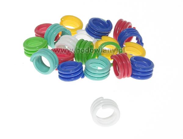 Spiralny pierścień do obrączkowania ptaków - 14 mm 25 szt. - zdjecie 1