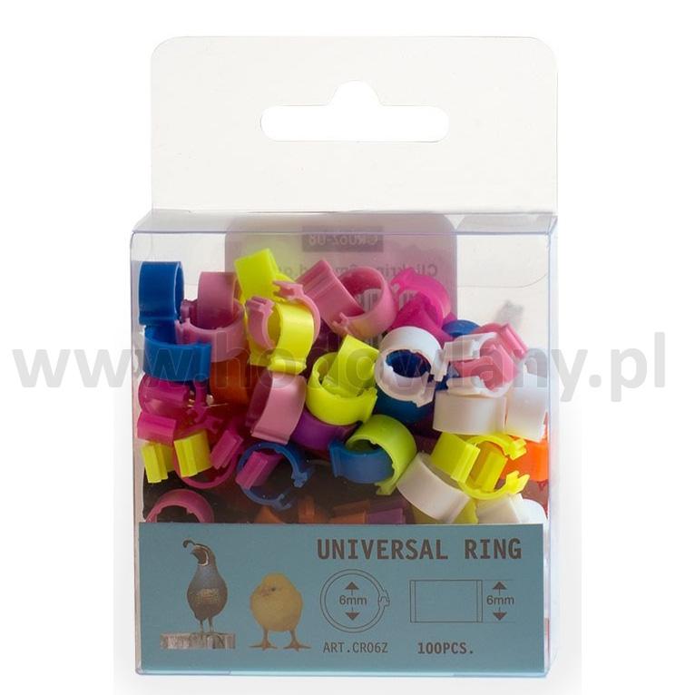 Znaczniki dla przepiórek i piskląt 6 mm - 100 sztuk w 10 różnych kolorach