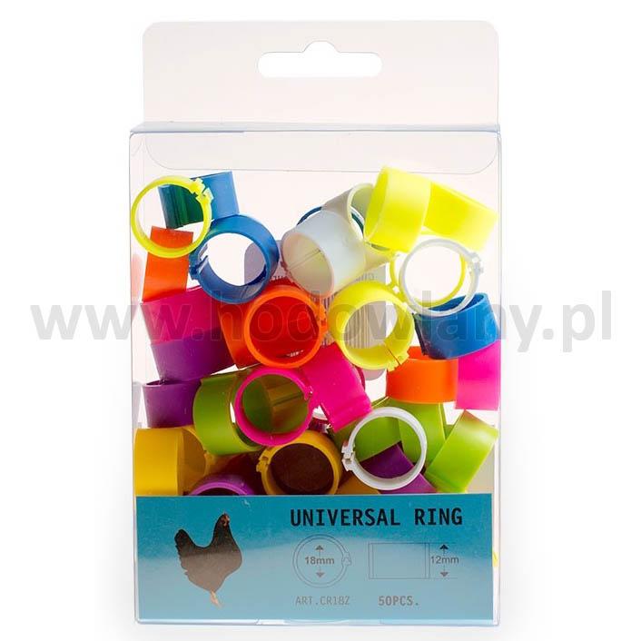 Znaczniki dla kur ras dużych 18 mm - 50 sztuk w 10 różnych kolorach