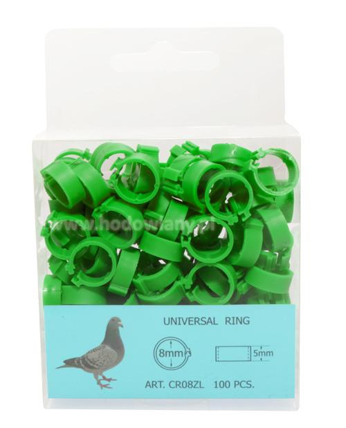 Obrączki, znaczniki 8mm dla gołębi 100sztuk - zdjecie 1