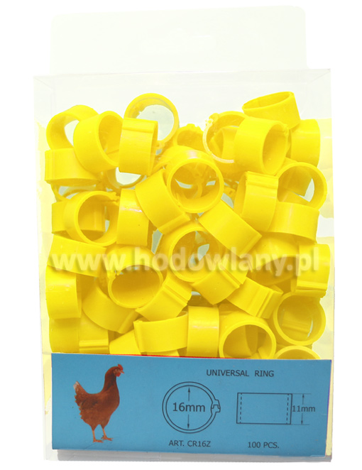 Znaczniki klipsowe 16 mm obrączki dla kur 100 sztuk - zdjecie 1