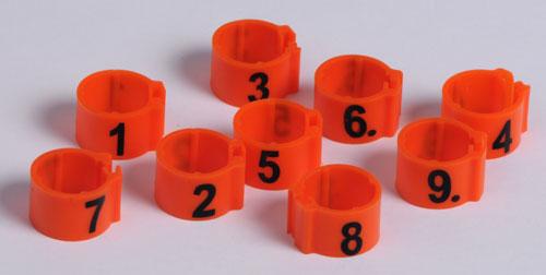 Obrączki numerowane dla kur 1-25 - zdjecie 1