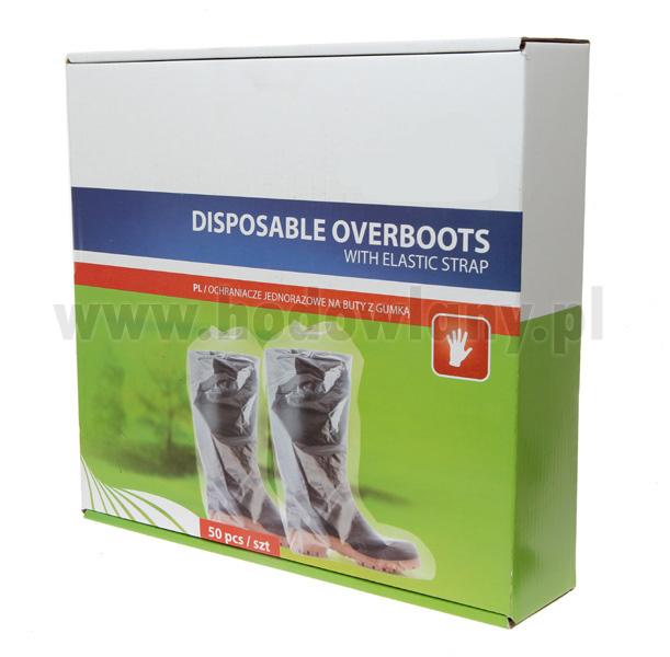 Ochraniacze na buty jednorazowe ze ściągaczem - 50 szt.