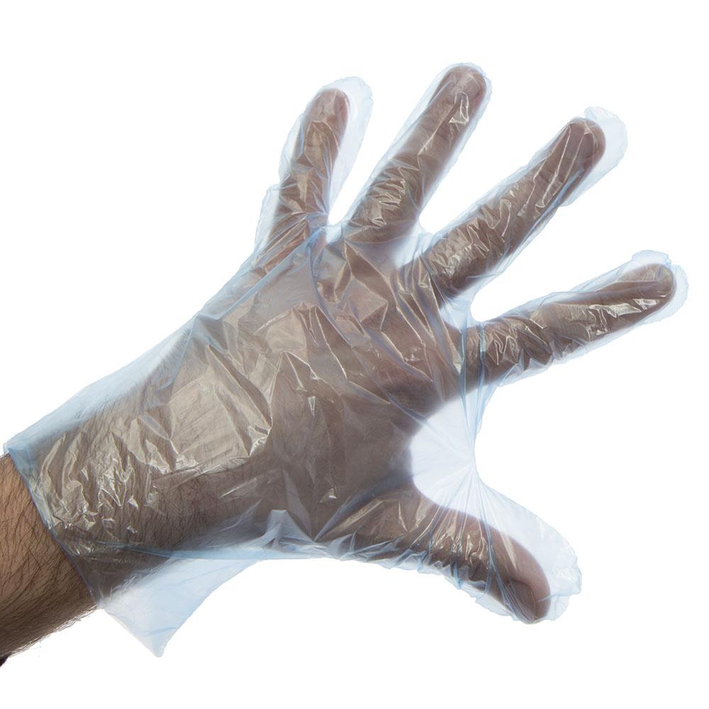 Rękawice foliowe jednorazowe HDPE - 100 szt.  - zdjecie 1