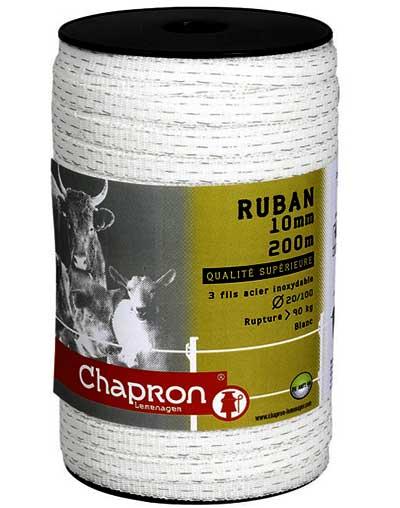 Taśma ogrodzenia elektrycznego RUBAN 10mm 200m